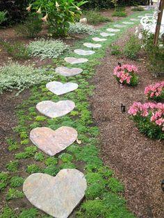 Garden Stones, Garden Paths, Garden Paving, Garden Art, Home And Garden, Dream Garden, Future House, Stepping Stones, Beautiful Places