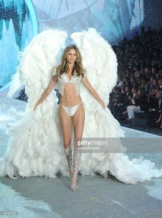 Model Behati Prinsloo walks the runway at the 2013 Victoria's Secret Fashion Show at Lexington Avenue Armory on November 13, 2013 in New York City.