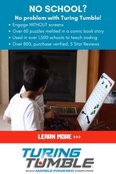 Turing Tumble is a revolutionary new game where players build marble-powered computers to solve logic puzzles. Play Based Learning, Home Learning, Teaching Activities, Fun Activities For Kids, Yoga For Kids, School Hacks, Childhood Education, English, Special Education