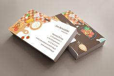 szablon wizytówki Paprykowy Business Cards, Visit Cards, Carte De Visite