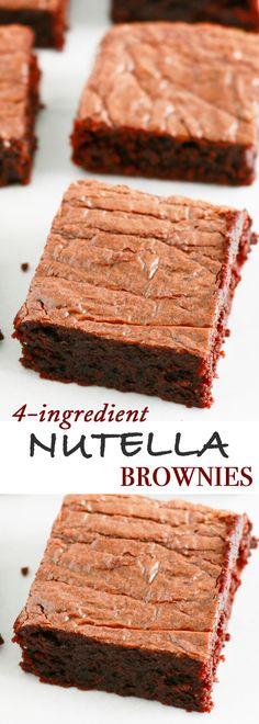 EASY nutella brownies | best chewy brownie recipe | fudge brownies recipe | easy brownie recipe | best brownie recipe | chewy brownie recipe | gluten free brownies | almond flour brownies | flourless brownies