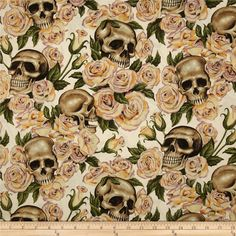 Designed by the DeLeon Design Group for Alexander Henry, this cotton print fabric is perfect for quilting, apparel, crafts, and home decor items. Colors include natural, cream, brown, lilac, and green.
