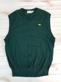 Augusta National Golf Masters Sweater Sleeveless Vest Mens XL #AugustaNationalGolfShop #SweaterVest