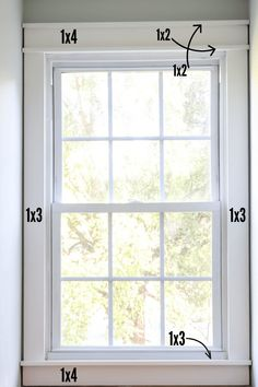 DIY craftsman style trim with markings Craftsman Windows And Doors, Craftsman Window Trim, Craftsman Style, Window Sill Trim, Interior Trim, Interior Design, Farm House Colors, Painting Trim, Modern Farmhouse Style