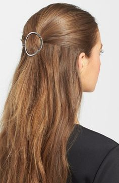Barrette Hairstyles Captivating Half Up Hair  Gold Circle Barrettes Are The Sweetest Summer Trend
