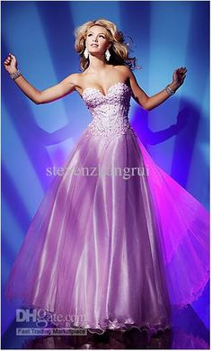 GORGEOUS! Wholesale Pink Strapless Sweetheart A-Line Applique Evening Gown 2102 New Style Floor Length Prom Dresses, Free shipping, $128.8-145.99/Piece | DHgate