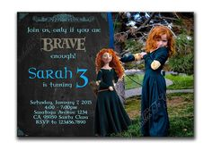 Brave Invitation Pixar's Brave Birthday by PrintablesToYou on Etsy