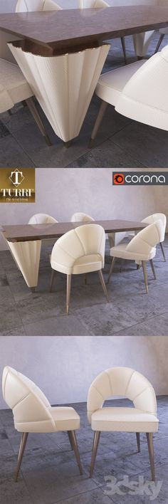 Table and chairs Turri Orion