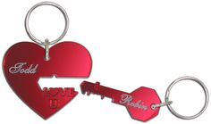 Key to my Heart Keychains are romantic gifts for him and her!