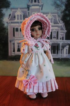 "10"" Patsy/Ann Estelle Doll ""LITTLE DANITY ROSEBUD"" Regency Gown. #DollswithClothingAccessories"
