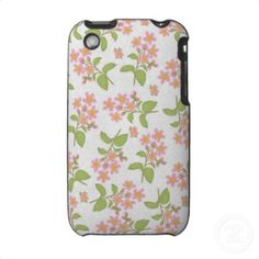 Light Pink Wildflowers iPhone 3G/3GS Case