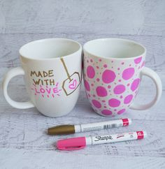 coffee mug sharpie  | What To Give Your Mom For Mother's Day: 15 DIY Gift Ideas She'll ...