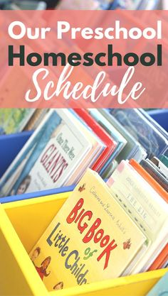 A Sample Preschool Homeschool Schedule that includes weekly topics and a look at the times and activities for her preschooler!