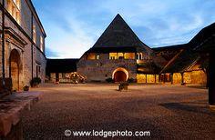 Evening falls at Chateau du Clos de Vougeot. Burgundy, France.