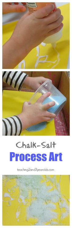 Process Art with Chalk Salt