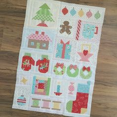 """So here are all of the blocks together...YaY!!!!❤️ but the quilty fun isn't over yet!!! I'm going to be adding something to the string of Christmas…"""