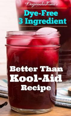'Better Than Kool-Aid' Recipe: Kid Approved, Happy Mom!, Make the connection between artificial food dyes and hyperactivity. for kids No Additive Kool-Aid Recipe: Kid-Approved, Happy Mom! Juice Recipes For Kids, Healthy Drinks For Kids, Kid Drinks, Healthy Juice Recipes, Healthy Juices, Whole Food Recipes, Beverages, Recipes For Children, Natural Food Recipes
