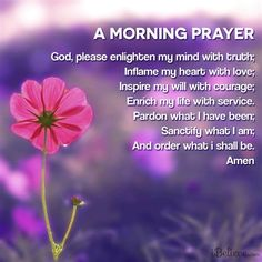 Morning prayers are a great way to focus and ask God for strength and peace for the day. Here is a month's worth of prayers you can use in the morning to start your day off on the right foot and recieve what you need from God. Morning Blessings, Morning Prayers, Morning Messages, Power Of Prayer, My Prayer, Prayer Board, Sunday Prayer, Healing Prayer, Prayer Ideas