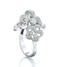 Boodles Blossom Cluster White Gold Diamond Ring