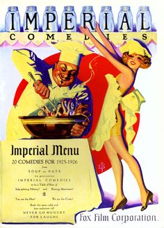 Two Strip Technicolor, Fox Film's Imperial Comedies. Art by Enoch Bolles...