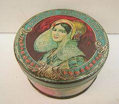 Vintage 'Geslot & Voreux' French biscuit tin