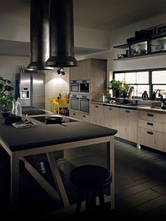 For Scavolini, the designers of the Diesel Social Kitchen have created a vast assortment of compositional features that can merge to generate an infinity of original, unique rooms | #DieselSocialKitchen