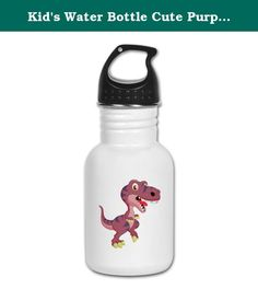 Kid's Water Bottle Cute Purple T-Rex Dinosaur. Product Number: 0001-1616743155 Perfect for school lunches or soccer games, our kid's stainless steel water bottle quenches children's thirst for individuality. Personalized for what kids love, it's both eco-friendly and compact. Made of 18/8, food-grade stainless steel. * No lining & no BPA or other toxins * Wide mouth for easy drinking * Durable, BPA-free & phalate-free screw-on top * Holds 0.35L (nearly 12 ounces) * Thin profile to fit…