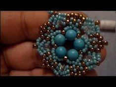"""Tutorial Perline: Ciondolo """"FLOWER"""" realizzato con perline delica, rocaille, superduo e swarovski - YouTube"""