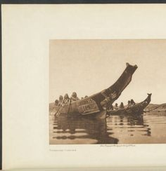 The North American Indian, vol. 10, Tenaktak canoes, 1914, facing p. 32 :: The North American Indian, vol. 10 :: Rare Books and Manuscripts Collection. http://digitallibrary.usc.edu/cdm/ref/collection/p15799coll58/id/36400