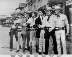 A rundown on early Warner Bros Cowboys TV series.  Individual pictures as well as this shot of all the cowboys together.
