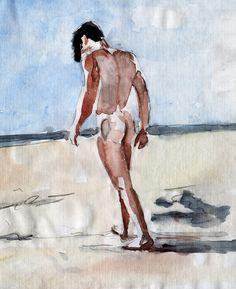 Peter Bridgstock - walking on the beach