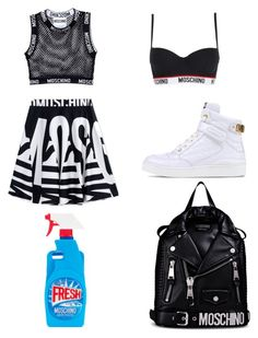 """Moschino <3"" by basicallycouture ❤ liked on Polyvore featuring Moschino"