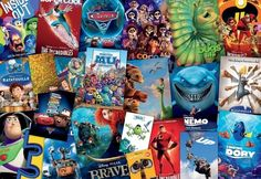 Disney Movie Posters, Disney Pixar Movies, Pixar Characters, 2000 Piece Puzzle, Puzzle Pieces, Disney Puzzles, Disney Brands, Cardboard Paper, Jigsaw Puzzles
