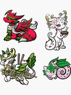 """Food Dragon Sticker Pack Sticker by bgolins Cute Dragon Drawing, Dragon Drawings, Baby Dragon Tattoos, Badass Drawings, Clay Set, Pokemon Eevee, Mythical Creatures Art, Creature Drawings, Cute Dragons"