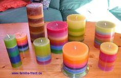 Birgits Bastelseite Kerzen aus Resten gießen