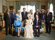Prince George Christening, Official Portrait of the Royal Family