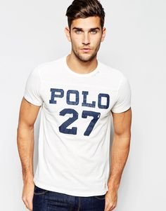 """T-shirt by Polo Ralph Lauren Soft-touch jersey Crew neck Branded applique Regular fit - true to size Machine wash 100% Cotton Our model wears a size Medium and is 188cm/6'2"""" tall"""