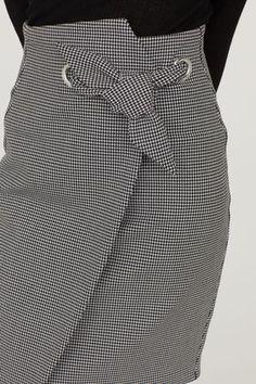 Jupe crayon à motif - Blanc/pied-de-poule - FEMME   H&M FR 2
