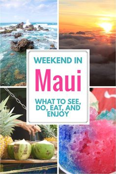 Best Things to do in Maui: What to See, Do, and Eat A weekend in Maui is definitely always welcomed! With so many things to do in Maui, Hawaii is always a good idea! Honeymoon Vacations, Hawaii Honeymoon, Hawaii Vacation, Maui Hawaii, Oahu, Hawaii Life, Honeymoon Ideas, Family Vacations, Dream Vacations