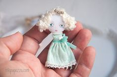 Mint Little Princess and her Tiny House Art Doll by miopupazzo
