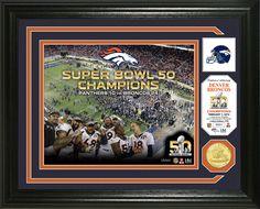"~Denver Broncos Super Bowl 50 Champions ""Celebration"" Bronze Coin Photo Mint~backorder"