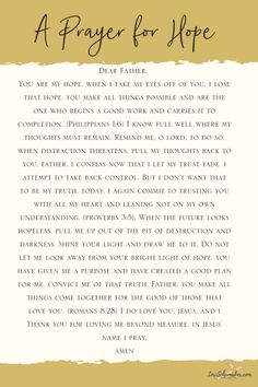 Sometimes we just need help to find the words to pray. This is a prayer for hope that uses Scripture as its foundation. It is one I wrote at a time I needed hope. A prayer for hope is a part of the resources available with the Don't allow dis Prayer Scriptures, Bible Prayers, Faith Prayer, God Prayer, Prayer Quotes, Power Of Prayer, Faith In God, Prayer For Help, Fervent Prayer