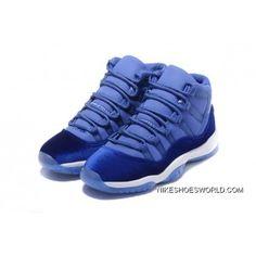 13468821649a Air Jordan 11 Velvet Royal Blue-White Top Deals