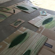 """Design process shot from the making of the textile art piece """"Mixing"""" by Stine Linnemann Studio"""