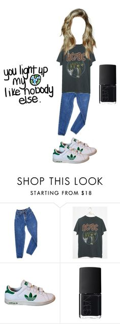 """""""."""" by mooniverse ❤ liked on Polyvore featuring PèPè, adidas and NARS Cosmetics"""