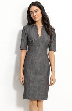 Just bought this Calvin Klein dress at Nordstroms and they're shipping me a new size - #FreeShipping. And its a great work dress.