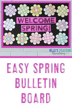 Ready for spring? Check out this easy spring bulletin board! Click through to be inspired. Then let your students use the NO PREP puzzles to make easy spring bulletin boards for the months of March, April, or May. Learn by by clicking through now! #HoJoTeaches #Spring #BulletinBoard Flower Activities For Kids, Spring Activities, Book Activities, Cool Bulletin Boards, Spring Bulletin Boards, Math Literacy, Fun Math, Maths Algebra, 4th Grade Classroom