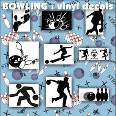 Bowling Wall Decal Vinyl Decal Car Decal Bl Vinyls - Window decals for sports