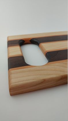 Beautiful Cutting Board with Walnut and Maple by SSquaredCrafts