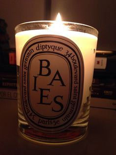 My first Diptyque Candle BAIES